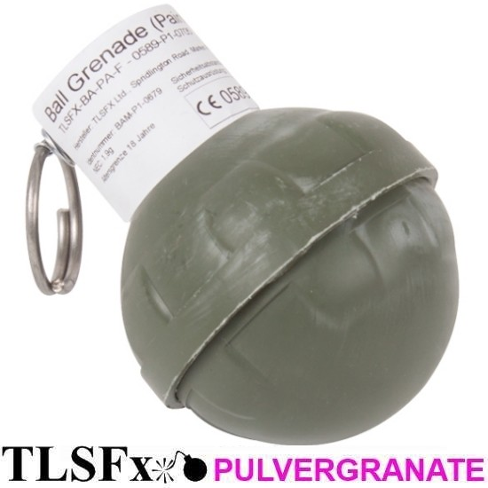 TLSFx Paintball / Airsoft powder grenade with tear-off fuse
