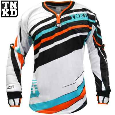 Tanked Paintball GOLD Pro Jersey (white / orange) - 2XL | Paintball Sports
