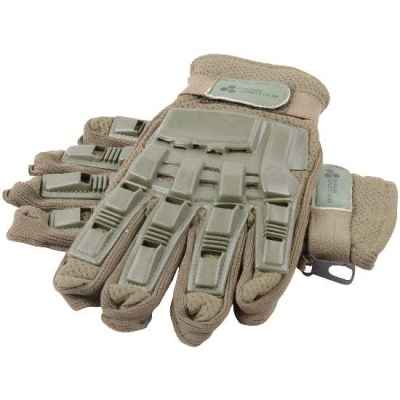 Paintball Full Finger Gloves with Protectors (olive) | Paintball Sports