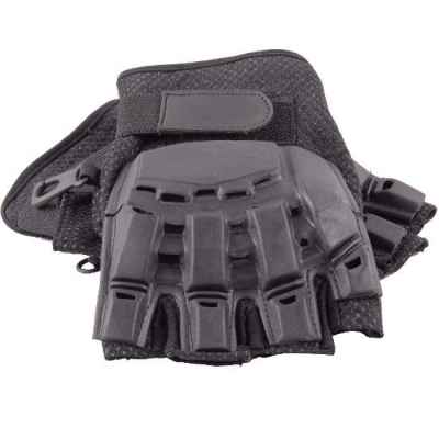 Paintball Half Finger Gloves with Protectors (black) | Paintball Sports