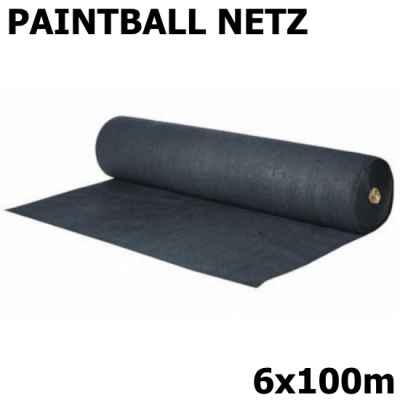 Paintball court net / safety net 6x100m (black, 90g) | Paintball Sports