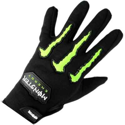 Monster-Energy CLAWS Paintball Gloves (black / green) | Paintball Sports