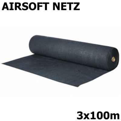 Airsoft playing field net / safety net 3x100m (black, 180g) | Paintball Sports
