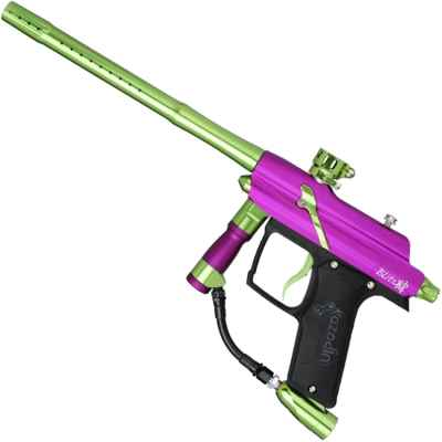 Azodin Blitz 4 paintball marker (purple / green) | Paintball Sports