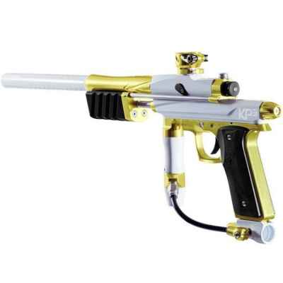 Azodin KP3 Kaos Pump paintball marker (titanium / gold) | Paintball Sports