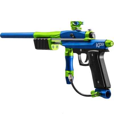 Azodin KP3 Kaos Pump paintball marker (blue / lime) | Paintball Sports