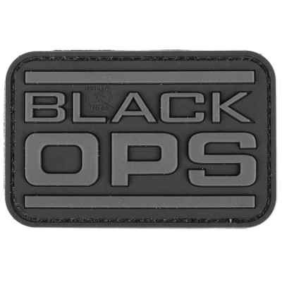 Paintball / Airsoft PVC Klettpatch (Black OPS) | Paintball Sports