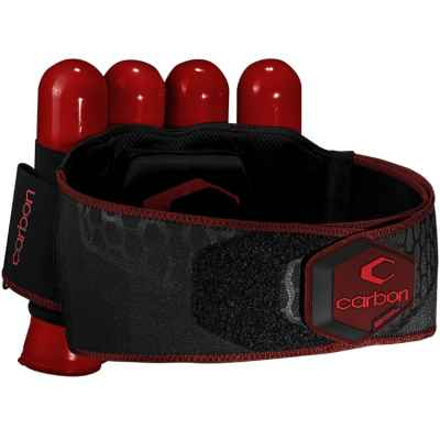 Carbon CC Harness Paintball Battlepack 4 + 5 (red) | Paintball Sports