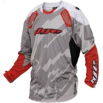 DYE C14 Paintball Jersey / Jersey (Airstrike Gray Red, 2XL / 3XL) | Paintball Sports