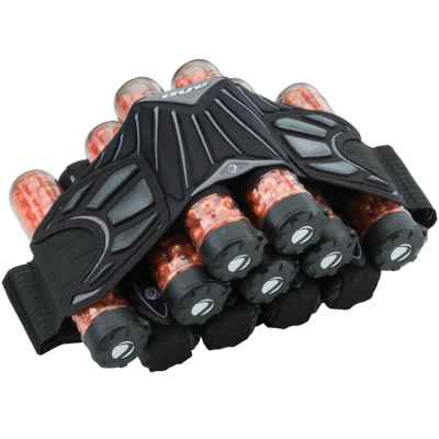 DYE Attack Pack Pro Battlepack (4 + 5 + 2) - black / gray | Paintball Sports