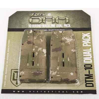 DYE DAM 10 rounds replacement magazines 2 pack (Dyecam) | Paintball Sports