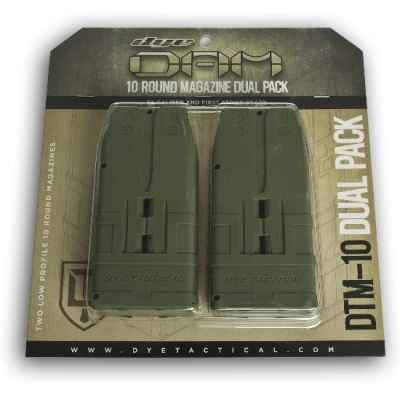DYE DAM 10 rounds of spare magazines 2 pack (olive) | Paintball Sports