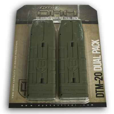 DYE DAM 20 rounds of spare magazines 2 pack (olive) | Paintball Sports