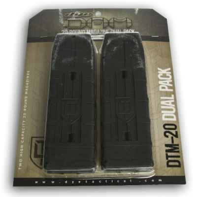 DYE DAM 20 Shot Replacement Magazines 2 Pack (Black) | Paintball Sports