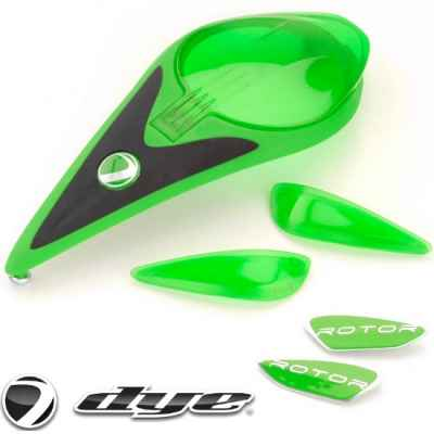 DYE Rotor Hopper Color Kit (Lime Green) | Paintball Sports
