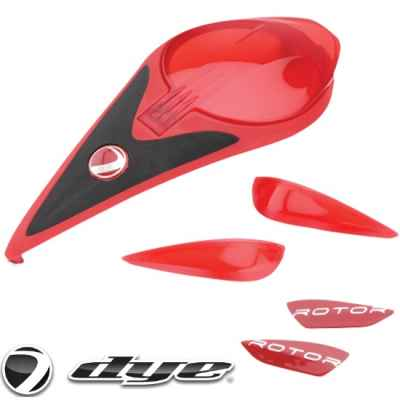 DYE Rotor Hopper Color Kit (red / red) | Paintball Sports