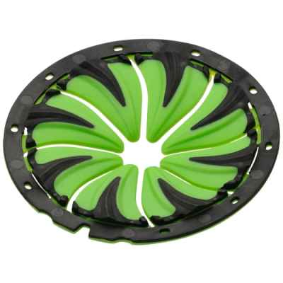 DYE Rotor Paintball Hopper Quick Feed (Lime Green) | Paintball Sports