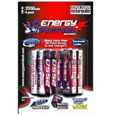 Energy Paintball Battery 1.2 Volt (pack of 6) - 2550 mAh | Paintball Sports