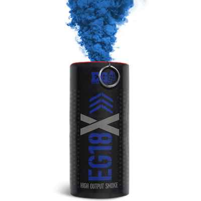 Enolagaye EG18X Paintball smoke bomb with detonator (blue) | Paintball Sports
