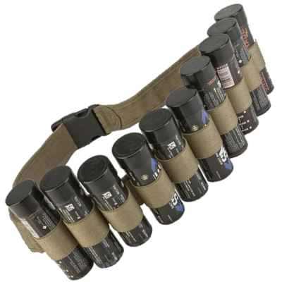 Enolagaye Hang Ten 10er Smoke Bomb Belt (Desert / Tan) | Paintball Sports