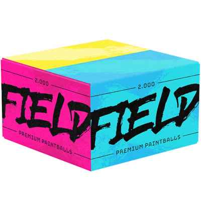 FIELD Premium Paintballs for playing fields (box of 2000) - PINK / BLUE | Paintball Sports