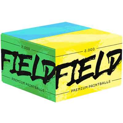FIELD Premium paintballs for playing fields (box of 2000) - BLUE / YELLOW | Paintball Sports