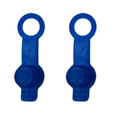 Filler nipple protection for HP bottles (pack of 2, blue)   Paintball Sports