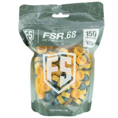 Tiberius Arms First Strike Paintballs 150 rounds bag (gray / yellow) | Paintball Sports