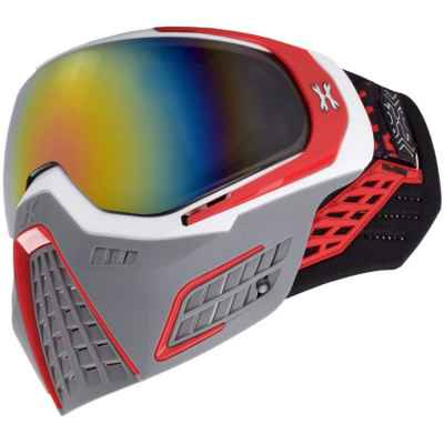 HK Army KLR Paintball Mask (SLATE White / Red) | Paintball Sports
