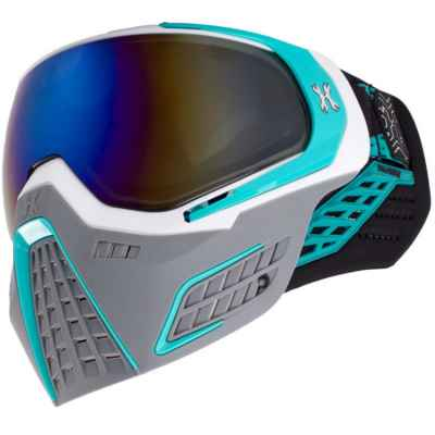 HK Army KLR Paintball Mask (SLATE White / Turquoise) | Paintball Sports