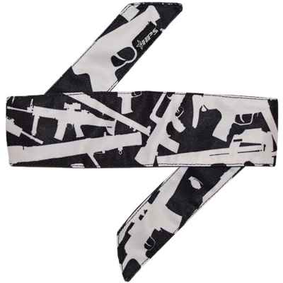HPS Paintball Head Band (Weapons WHITE) | Paintball Sports