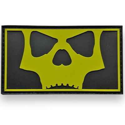 LA Infamous Icon Skull Full Patch (Black Volt) | Paintball Sports