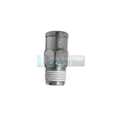 Macroline fitting straight (6,3mm) - silver | Paintball Sports