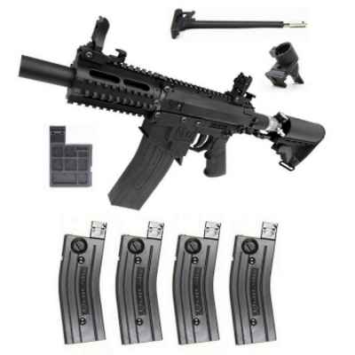 Milsig M17 CQC A2 Players Pack / Complete Set (Black) | Paintball Sports