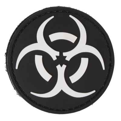 Paintball / Airsoft PVC Velcro Patch (Biohazard, black) | Paintball Sports