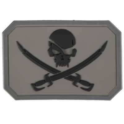 Paintball / Airsoft PVC Velcro Patch (Pirate, gray) | Paintball Sports
