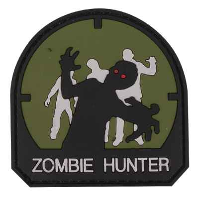 Paintball / Airsoft PVC Velcro Patch (Zombie Hunter, olive) | Paintball Sports
