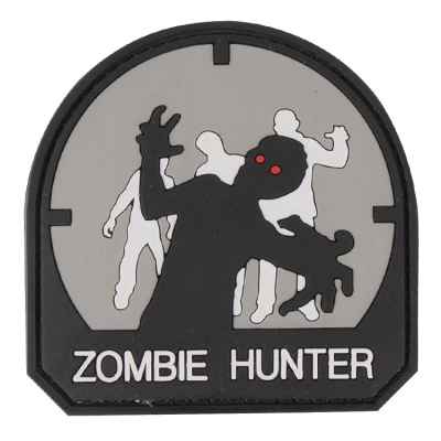 Paintball / Airsoft PVC Velcro Patch (Zombie Hunter, gray) | Paintball Sports