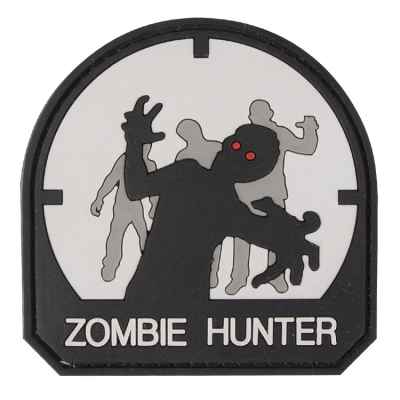 Paintball / Airsoft PVC Velcro Patch (Zombie Hunter, white) | Paintball Sports