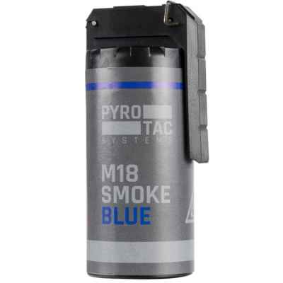 PYROTAC Paintball / Airsoft smoke grenade with rocker arm (blue) | Paintball Sports