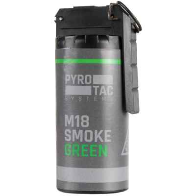 PYROTAC Paintball / Airsoft Smoke grenade with rocker arm (green) | Paintball Sports