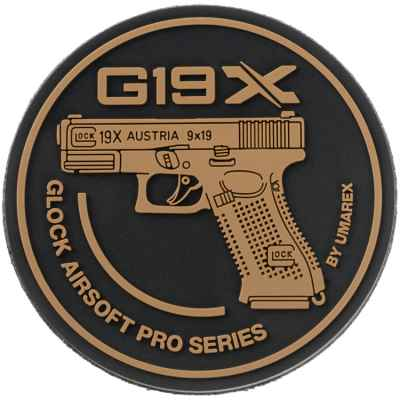 Paintball / Airsoft Velcro Patch (Glock 19X) | Paintball Sports