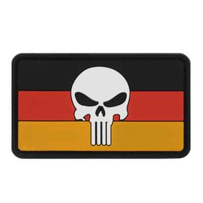 Paintball / Airsoft PVC Velcro Patch (German Skull) | Paintball Sports