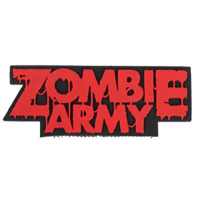 "Paintball / Airsoft PVC Velcro Patch (Zombie Army ""red"") 