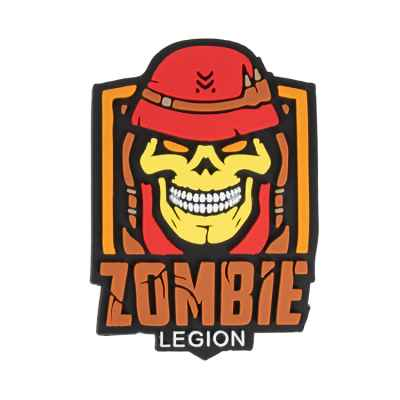 "Paintball / Airsoft PVC Velcro Patch (Zombie Legion ""red"") 