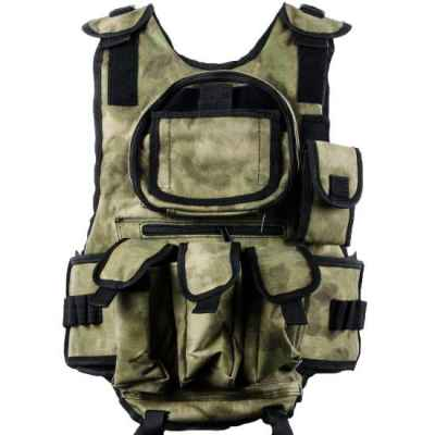 Paintball Tactical Vest 6 + 1 (Forrest Green Camo) | Paintball Sports
