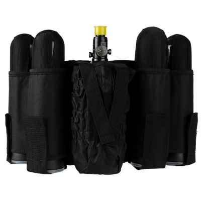 Paintball Tactical Battlepack 4 + 1 (black) | Paintball Sports
