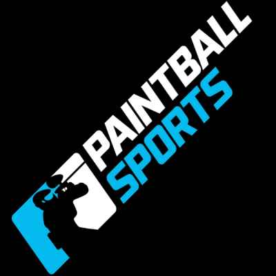 Paintball Sports Sticker (15cm) - blue / white | Paintball Sports