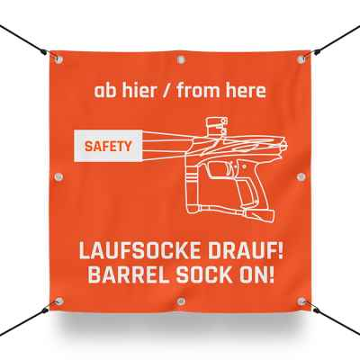 RUNNING SOCK ON IT! Sign for paintball playing field / airsoft playing field (60x60cm) | Paintball Sports