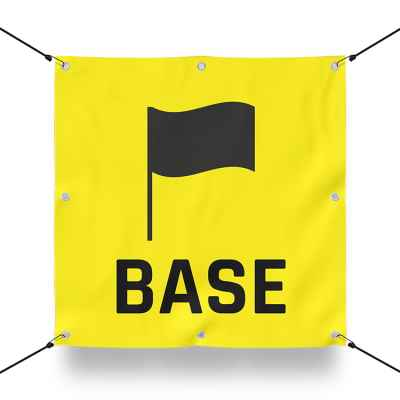 TEAM BASE YELLOW sign for paintball playing field / airsoft playing field (60x60cm) | Paintball Sports